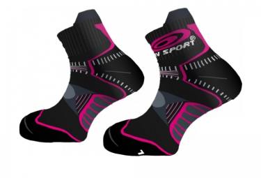 BV SPORT Socks TRAIL FEMINA Black Pink