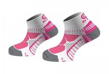 bv sport chaussettes running femina rose blanc 39 41
