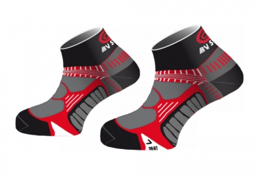 BV Sport RUNNING  Socks  - Noir / Rouge