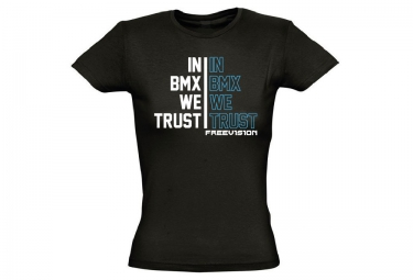 FREEVISION Woman T-Shirt TRUST BMX Black Blue