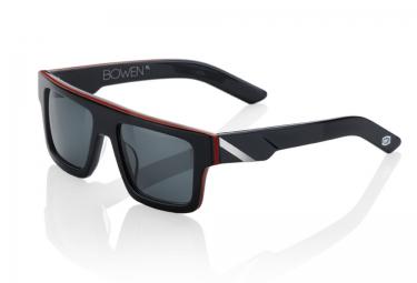 100% Lunettes BOWEN Noir Rouge / Gris