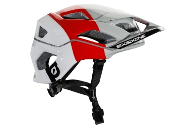 casque 661 sixsixone evo am 2017 blanc rouge xl xxl 60 62 cm