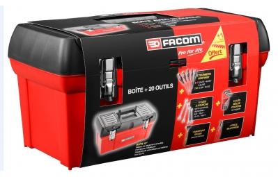 FACOM Caisse à outils Polypropylène + 20 outils