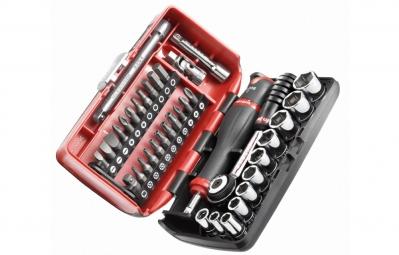 """Cofre de llaves de carraca 0/4"""" + Set de tornillos 38 herramientas FACOM"""