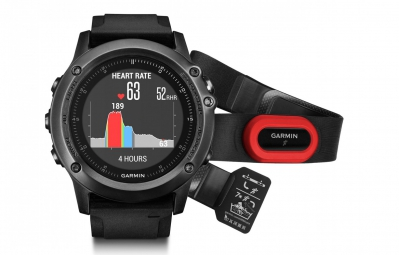 GARMIN Outdoor GPS Watch FENIX 3 Sapphire HR with HRM-Run Sensor