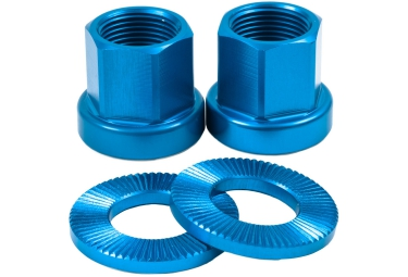 TSC Alloy Axle Nuts BMX Blue