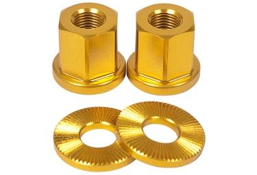 Tsc ecrous de roues bmx or 14 mm