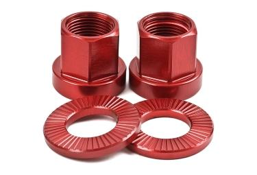 Tsc ecrous de roues bmx rouge 10 mm