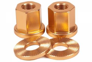 TSC Alloy Axle Nuts BMX Copper