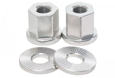 TSC Alloy Axle Nuts BMX Silver