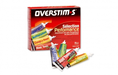 OVERSTIMS 10 Energy Gels LIQUID PERFORMANCE SELECTION