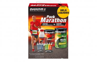 OVERSTIMS MARATHON Pack + Race number belt with 8 gel loops