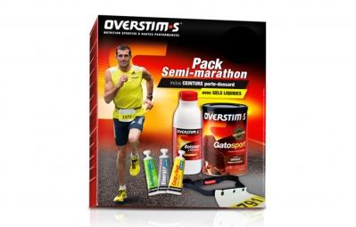 overstims pack semi marathon ceinture porte dossard