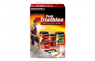 overstims pack triathlon ceinture porte dossard gourde