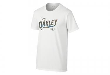 oakley tee shirt legs coupe slim blanc m