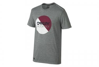OAKLEY Tee Shirt FACTORY PILOT CIRCLE Coupe Droite Gris