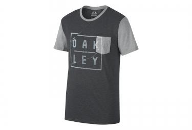 OAKLEY Tee Shirt GROM Coupe Droite Noir Gris