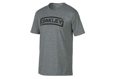 oakley tee shirt tab coupe droite gris xl
