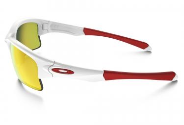 oakley lunettes quarter jacket blanc jaune iridium ref oo9200 03