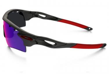 oakley lunettes radarlock path noir rouge rouge iridium polarise ref oo9181 23