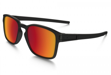 OAKLEY Lunettes LATCH SQ Matte Black / Torch Iridium Réf OO9353-03