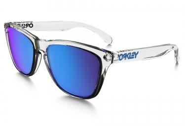oakley lunettes frogskins crystal clear sapphir iridium oo9013 a6