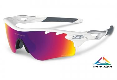 oakley lunettes prizm road radarlock white ref oo9181 40