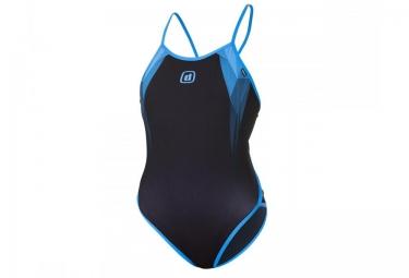 Z3r0d maillot de bain 1 piece graphic noir bleu femme xs
