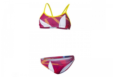 z3r0d maillot de bain 2 pieces graphic rouge femme xs