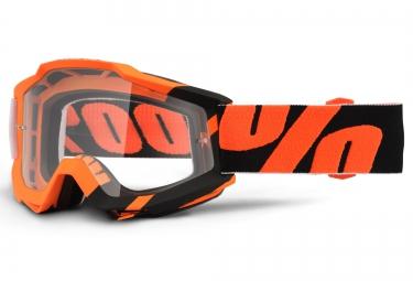 100 masque accuri wildblast orange noir ecran transparent