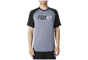 fox t shirt warmup gris noir s