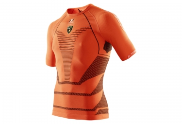 x bionic for automobili lamborghini maillot running homme orange noir s