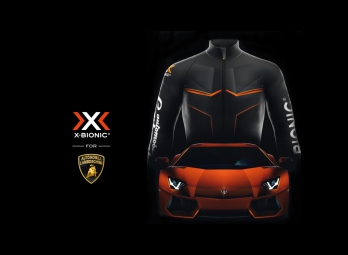 x bionic for automobili lamborghini veste running homme noir orange s