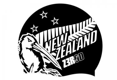 Z3ROD Bonnet de Bain NATIONAL PRIDE Noir Blanc Nouvelle Zelande