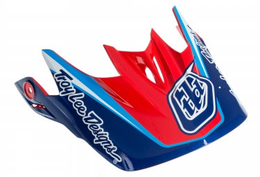 troy lee designs visiere d3 bleu rouge