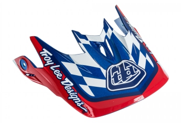 troy lee designs visiere d3 rouge bleu