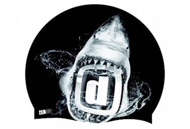 Z3R0D Swim Cap SHARK Black White
