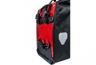ortlieb paire de sacoches porte bagage avant front roller classic rouge noir