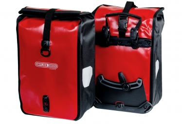 ORTLIEB Pair Of Front Trunk Bag FRONT-ROLLER CLASSIC Red Black