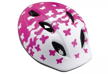 Casque Enfant MET BUDDY Blanc Rose Taille 46 53cm