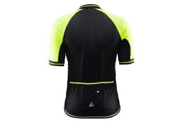craft maillot perf glow noir jaune m