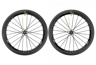 Paire de roues mavic crossmax pro 27 5 2017 15x100 12x142mm shimano sram pneu pulse