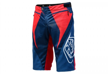 Short TROY LEE DESIGNS SPRINT Rouge Blanc Bleu
