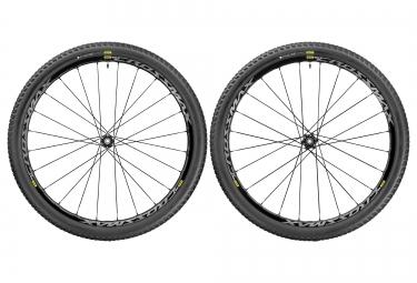 Wheel pair MAVIC CROSSMAX ELITE 29'' | Fr 15x100mm - 9x100mm + Rr 12x142mm - 12x135mm Corps Shimano/Sram | Pneu Pulse Pro 2.25 Black