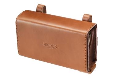 BROOKS D-SHAPED Saddle Bag Beige