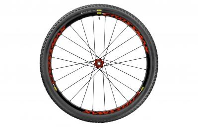 roue arriere mavic crossmax elite 29 12x142mm corps shimano sram pneu pulse pro 2 10 rouge
