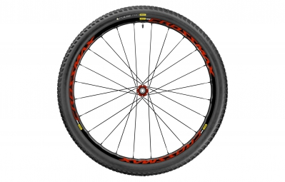 mavic 2017 roue avant crossmax elite 29 av 15mm pneu pulse pro 2 25 rouge