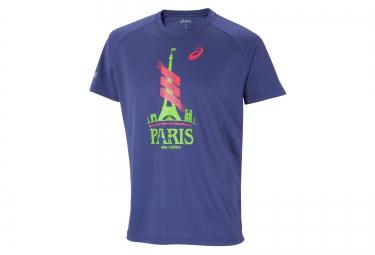 ASICS T-Shirt Schneider Marathon de Paris Bleu