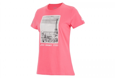 ASICS T-Shirt Printed Schneider Marathon de Paris Rose Women