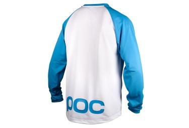 POC Maillot Manches Longues FLOW Blanc Bleu
